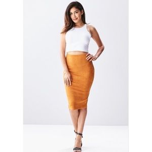 Dresses & Skirts - Faux Suede High Waisted Pencil Skirt